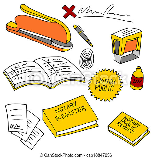 notary, 公衆, 項目 - csp18847256