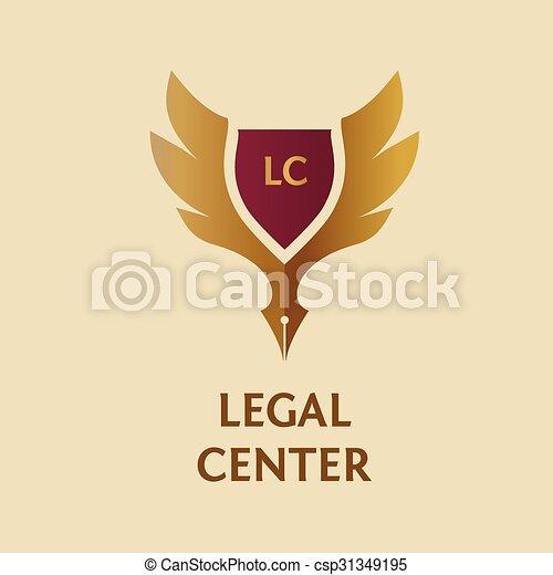Logotipo vectorial para organización legal, notaria - csp31349195