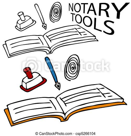 Clipart-Bild Notar Siegel Set: Massachusetts durch New Jersey