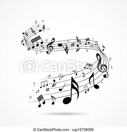 notas, desenho, musical, isolado - csp15736009