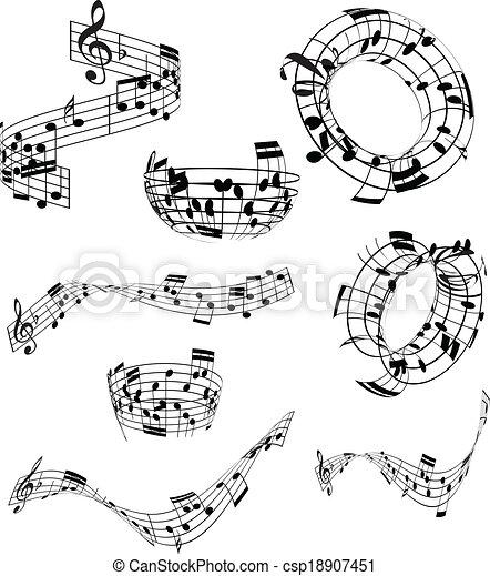 notas música, abstratos - csp18907451