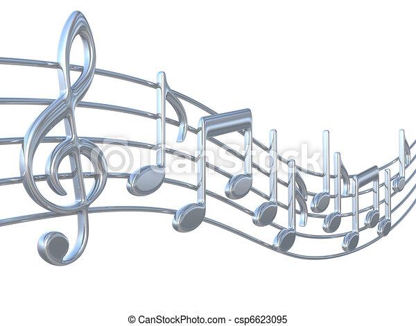 notas, música, aduelas - csp6623095