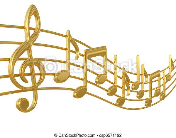 notas, música, aduelas - csp6571192