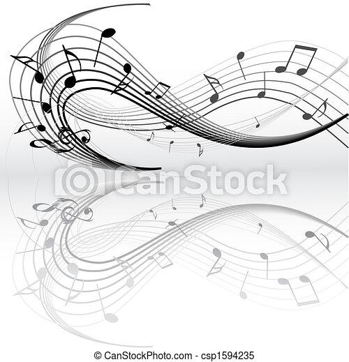 notas, música - csp1594235