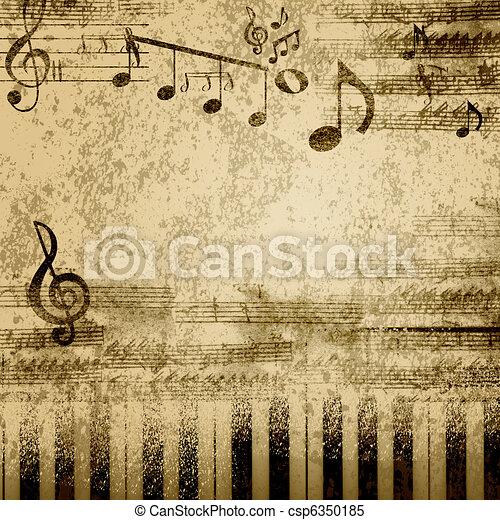 notas, música - csp6350185