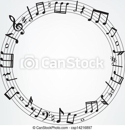 notas música, borda - csp14216897