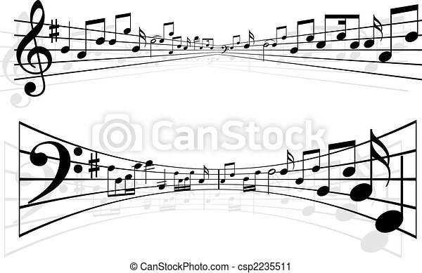 notas, música - csp2235511