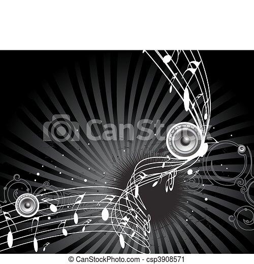 notas, música - csp3908571
