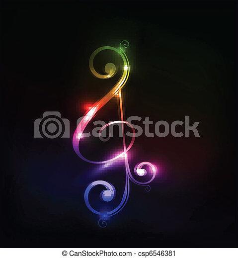 notas, música - csp6546381
