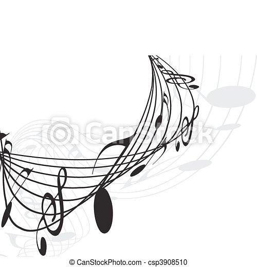 notas, música - csp3908510