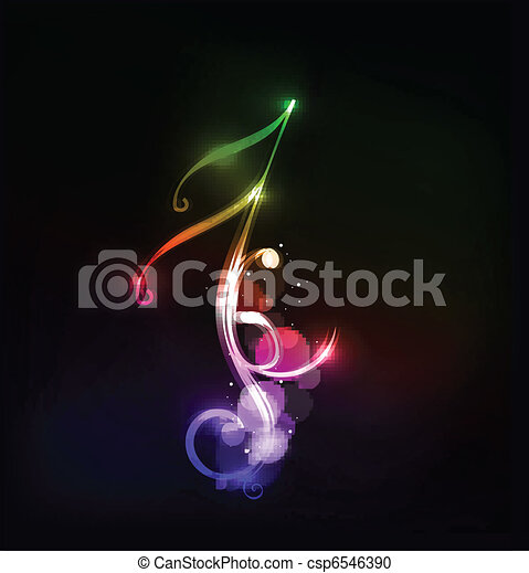 notas, música - csp6546390