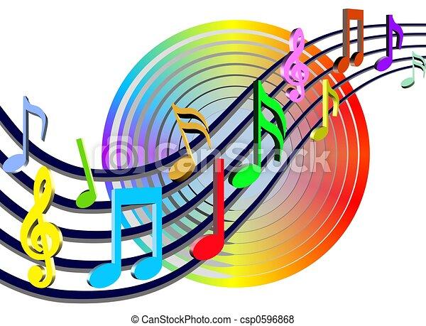 Notas de música coloridas - csp0596868