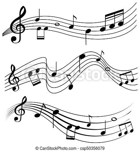 Notas Musica Desenho Seamless Ilustracao