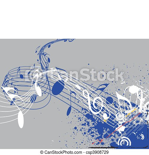 notas música - csp3908729