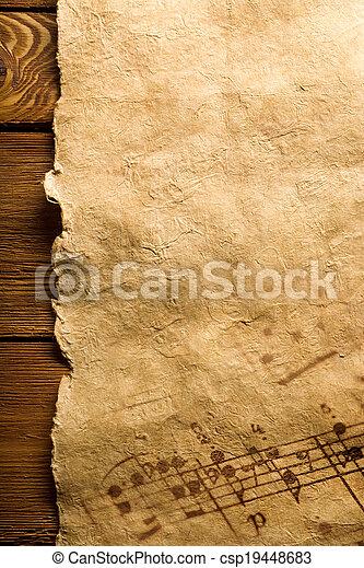 notas, música - csp19448683