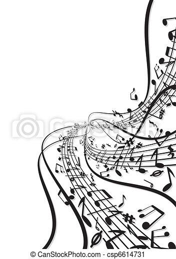 notas, música, fundo - csp6614731