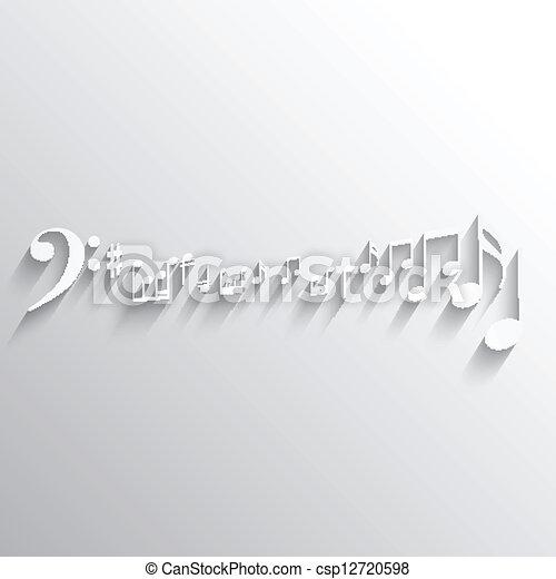 notas, música, fundo - csp12720598