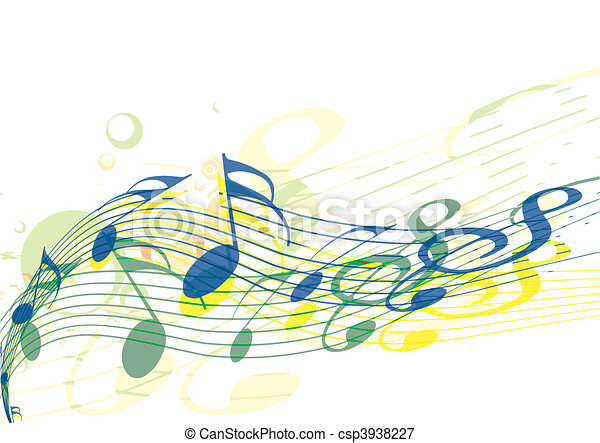 notas música - csp3938227