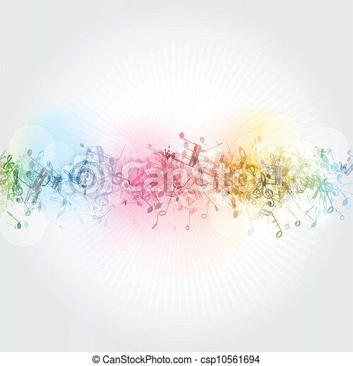 notas, música, plano de fondo - csp10561694