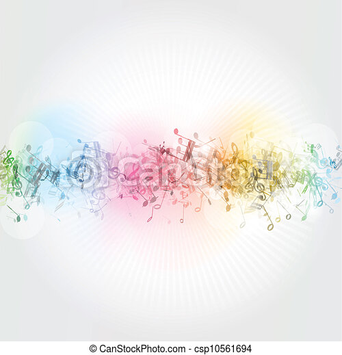 Notas musicales de fondo - csp10561694