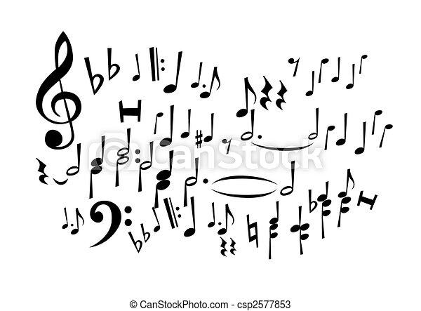 notas, música - csp2577853