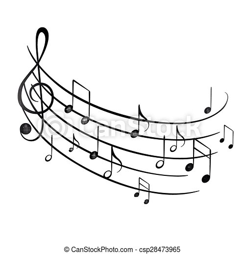 notas, música - csp28473965