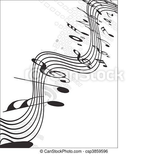 notas música - csp3859596