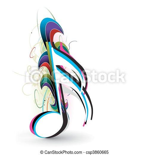 notas música - csp3860665