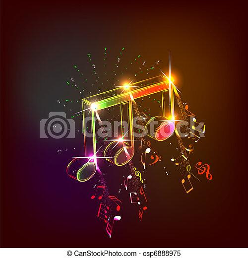 notas, música - csp6888975