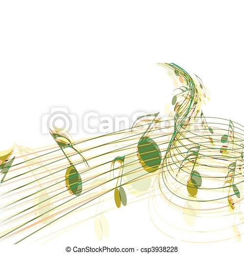 notas música - csp3938228