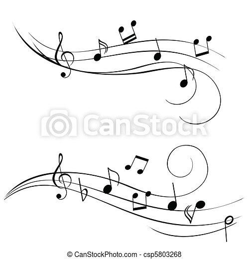 notas, música - csp5803268