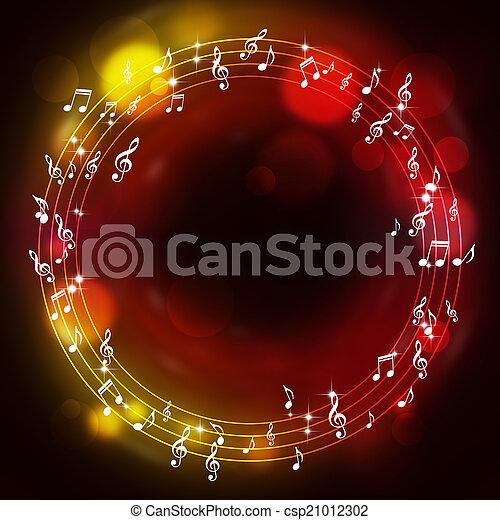 notas, muisc, multicolor, fundo - csp21012302