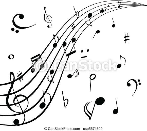 Notas musicales - csp5674600