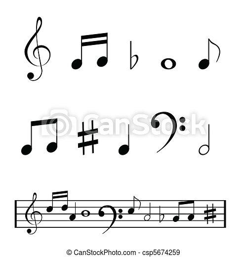 Notas musicales - csp5674259
