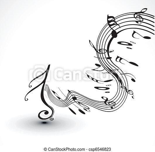 notas, musical, fundo - csp6546823