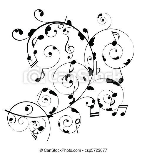notas, musical - csp5723077