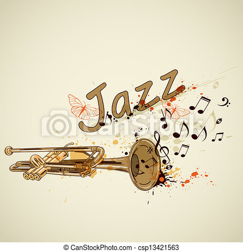notas, trompete, fundo - csp13421563