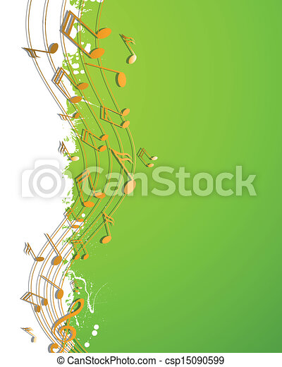 notas, vetorial, música - csp15090599