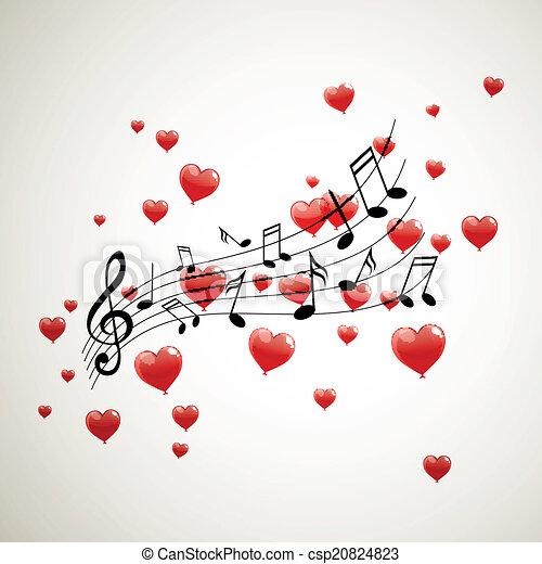 notas, vetorial, música - csp20824823
