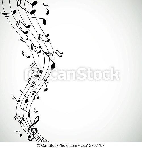 notas, vetorial, música - csp13707787