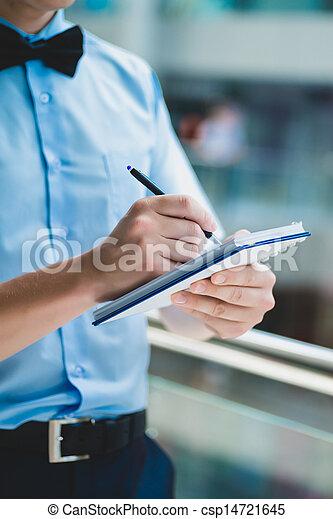 note-book, man - csp14721645