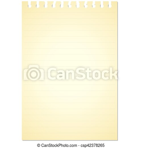 Note book paper isolated on white background - csp42378265