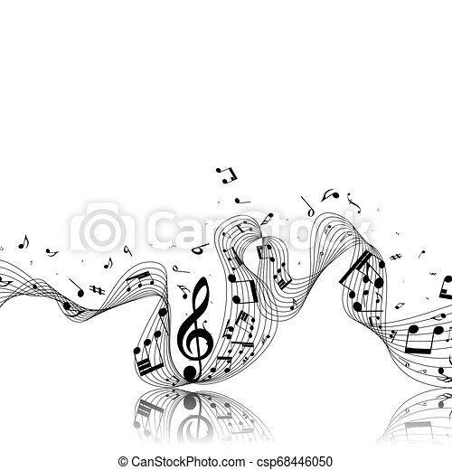 note, disegno, musicale - csp68446050