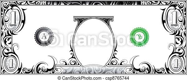 note, dollar - csp8765744