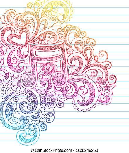 note  doodles  sketchy  vecteur  musique vecteur  carnet clip art music notes free clip art music notes png
