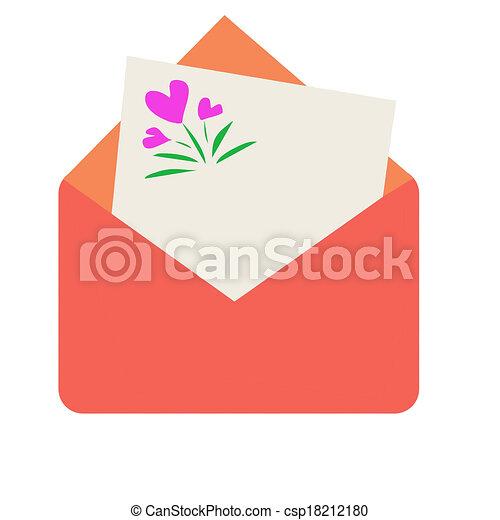 note, enveloppe - csp18212180