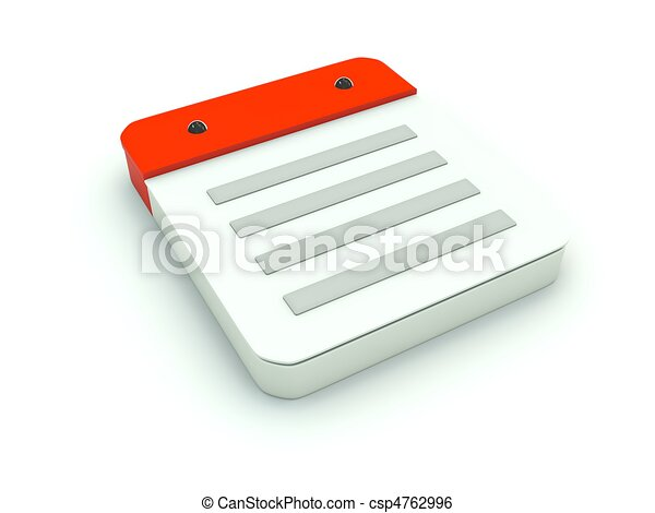 Note icon. Red series - csp4762996