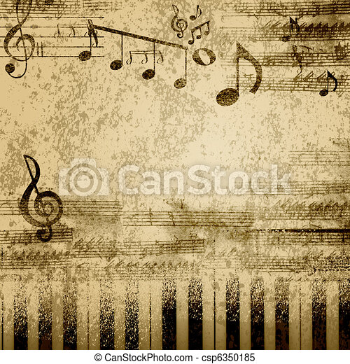 note, musica - csp6350185