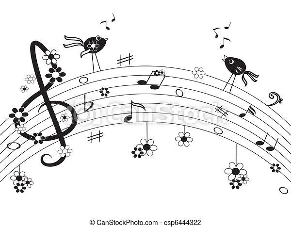 note, musica - csp6444322