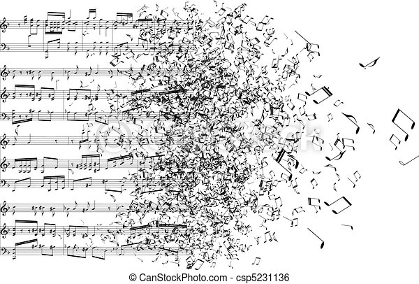 note, musica, lontano, ballo - csp5231136